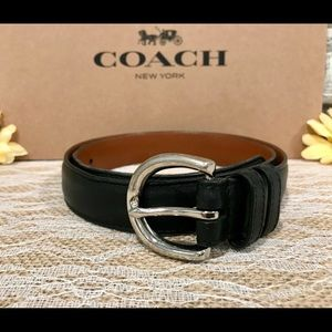 COACH Black Leather Belt Small GUC!